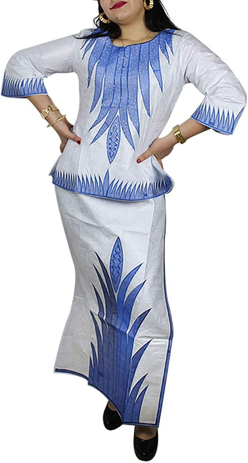 Perfectlooking African Dresses for Women 100% Cotton New African Fashion Design Embroidery