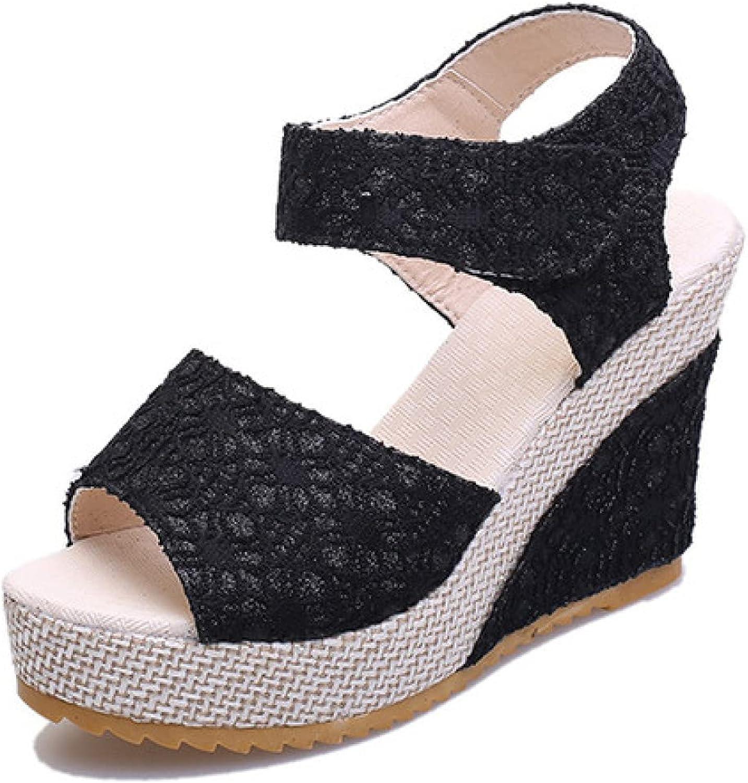 Womens Peep Toe Comfy Ranking TOP9 Platform Espadrilles Save money Sandals High Wedge He