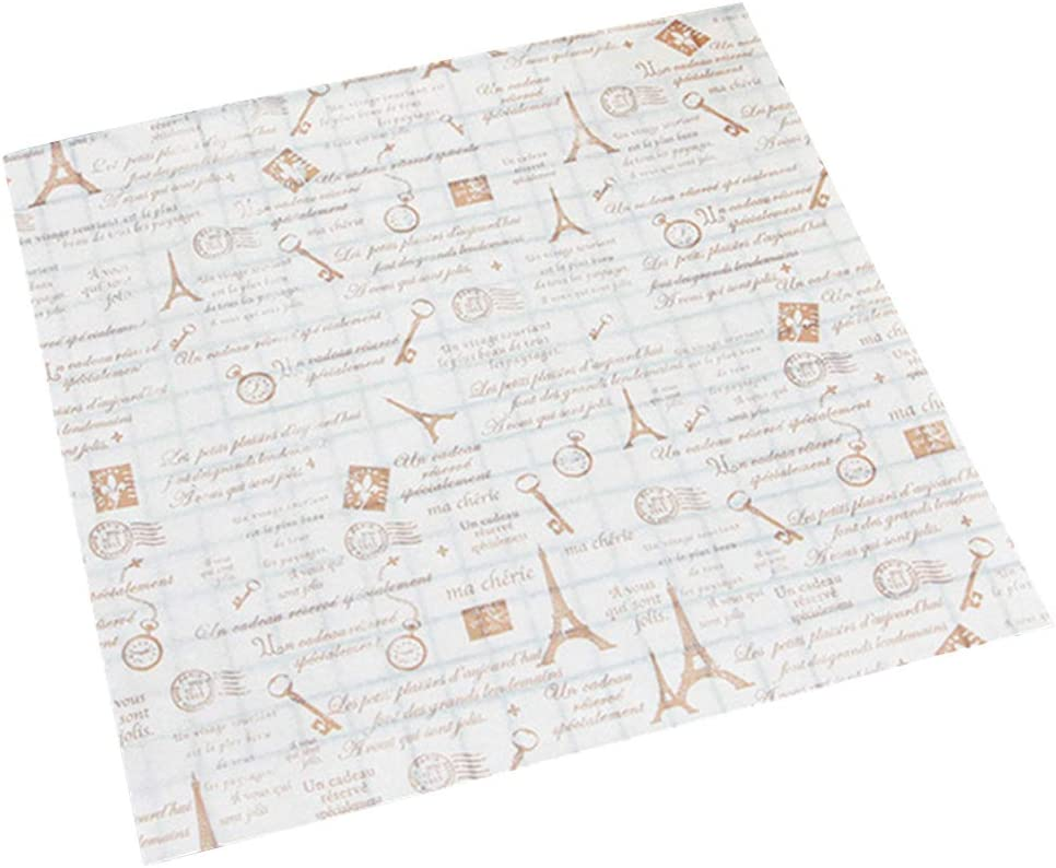 50Pcs Food Grade Inventory cleanup selling sale Grease-Proof Papers Max 85% OFF Bread Gre Sandwich Wrapping
