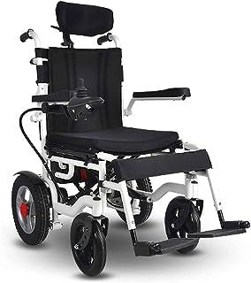 Sillas de ruedas eléctricas para adultos Médico silla de ruedas for sillas de rehabilitación, sillas de ruedas, Silla de ruedas eléctrica, con el apoyo for la cabeza, plegable y ligero silla de ruedas