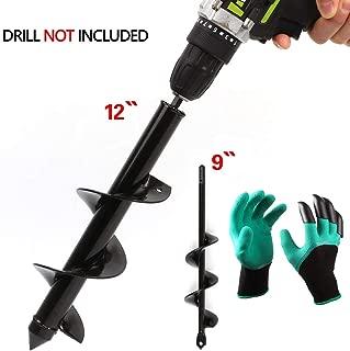 LAMPTOP 2-Pack Auger Drill Bit, Garden Plant Flower Bulb Auger 3