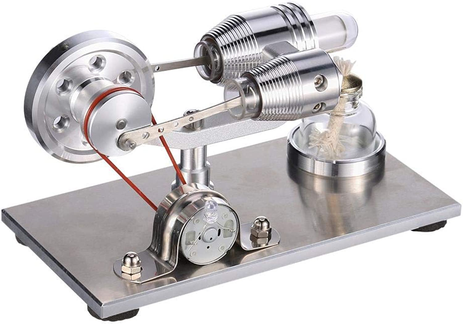 Beaulies Stirling Kids Metal Stirling Engine Motor Model Steam Power Physics Experiment Toys