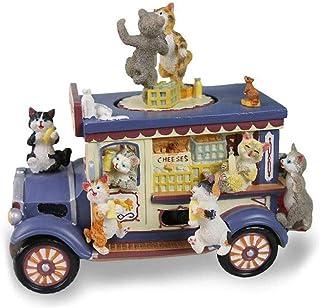 XYZMDJ Hartsmusiklåda, mjölk bil musiklåda harts katter dans roterande musiklåda för födelsedagspresent