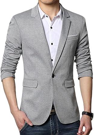 Benibos Men's Premium Casual One Button Slim Fit Blazer Suit Jacket