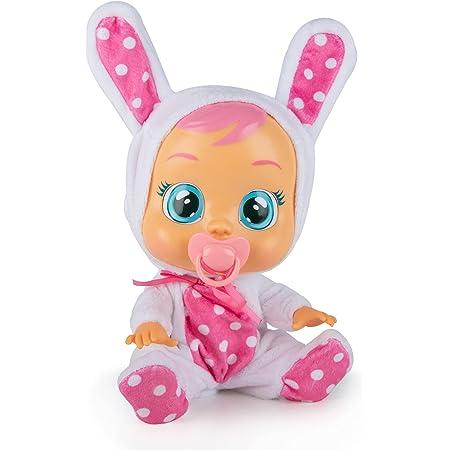 CRY BABIES Coney il coniglio - Bambola interattiva che piange lacrime vere con ciuccio e Pigiama, per Bambini e Bambine dai 2 Anni