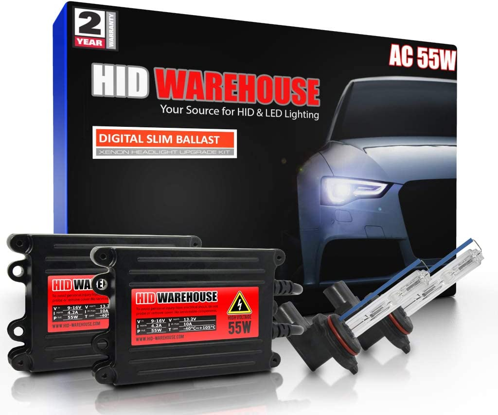 HID-Warehouse 55W AC Xenon Bundle with Max 90% OFF - 5K Bright Baltimore Mall 5000K Wh 9012