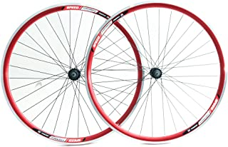 Stay-Tru Speed Aero 700c Road Bike Double Wall Alloy Wheelset 8-10 Speed Red QR New