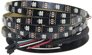 WS2812B RGB LED Strip Light 30 Pixels/M Digital Programmable, Aclorol WS2812B Individually Addressable 16.4ft 150 5050 RGB SMD Pixels Dream Color Black PCB 5V Work with Arduino & Raspberry Pi