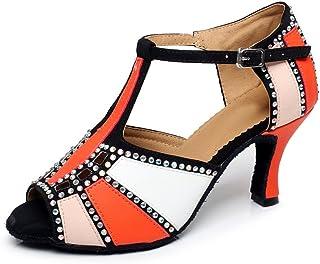 Miyoopark QJ6211 Women's Color Block Latin Salsa Dance Shoes