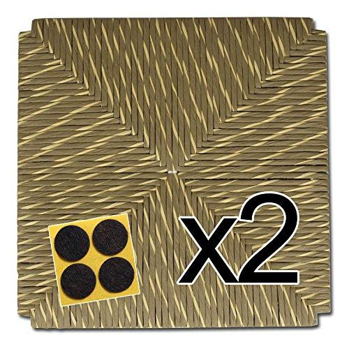 ArredaSì Ricambi sedili in Simil Paglia 37x37 (MOD. 998 SM) [Set di Due] + Feltrini in Omaggio