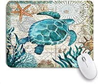 Mabby マウスマット Gaming Office Mouse Pad,turtle,Non-Slip Rubber Base Mousepad for Laptop Computer PC Office,Cute Design Desk Accessories