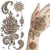 Supperb Temporary Tattoos - Inspired Mehndi Desige Temporary Henna Tattoos