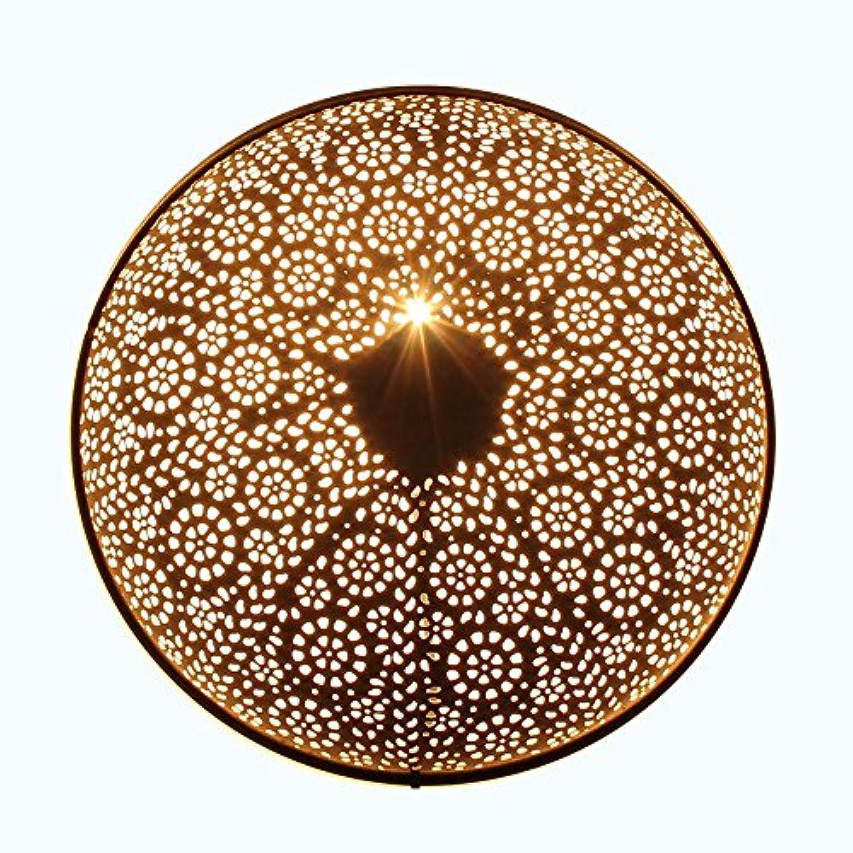Albena shop 71-6329 orientalische Wandlampe Metall rund (Tami schwarz  40cm)