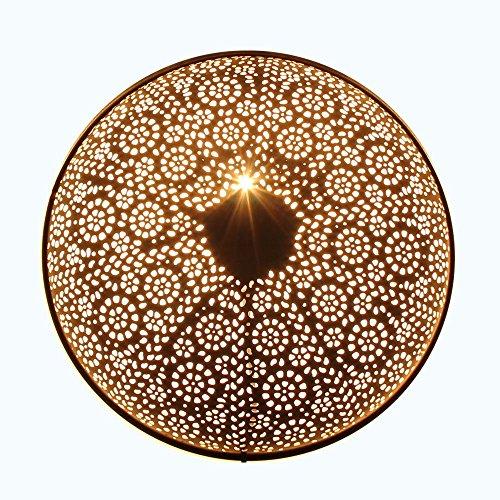 albena shop 71-6329 orientalische Wandlampe Metall rund (Tami schwarz ø 40cm)
