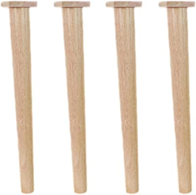 Tapered 4pcs Sofa Feet, Straight Solid Wood Furniture Legs, Wooden Cabinet Feet,Desk Legs,Replacement Legs, with Mounting Accessories, Easy to Install(46.5cm/18.3in)