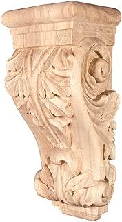 Acanthus Low Profile Wood Corbel (Maple)