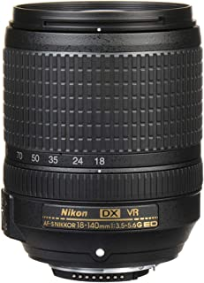 Nikon 2213 AF-S DX NIKKOR 18-140mm f/3.5-5.6G ED VR Lens, Black, 5.1 Inches