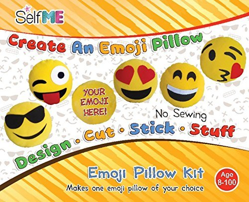 DADM Emoji Pillow Craft kit, for Girls & Boys, Kids and Adults , 32 cm, SelfMe Crafts kit.