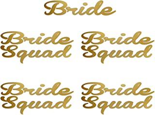 Set of 5, 1- Bride ,4- Bride Squad Iron On transfer , Heat Transfer for T shirt,Tank top ,DIY Bachelorette Party iron on transfers