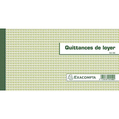 Cuaderno de recibos de alquiler 13,5x 18,5cm–50hojas