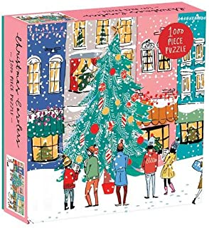Galison Christmas Carolers 1000 Piece Jigsaw Puzzle, Christmas Puzzle with Festive Holiday Scene