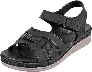 Metro Women Black Synthetic Sandals (44-134)
