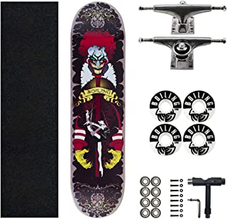 """31"""" Skateboard Complete Four Wheel Scooter Standard Skateboard Kids/Youth/Adult 7 Layers Maple Double Kick Concave Deck Br..."""