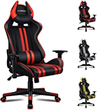ALFORDSON Gaming Chair Racing Chair Executive Sport Office Chair with 4D Armrest and U-Shape Headrest PU Leather Home Chai...
