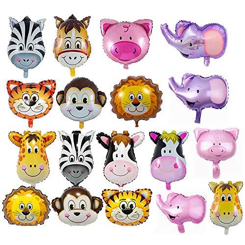 REYOK Folienballon Tiere,18-Pack Helium Folie Luftballon Tier Ballons Luftballons Dschungel Tierballons Kindergeburtstag - Helium ist Erlaubt, Perfekt für Kinder Geburtstag Party Dekoration