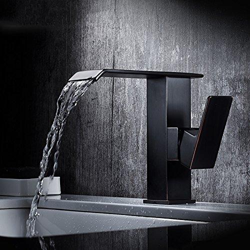 LSRHT Basin Taps Mixer Badkamer wastafel Kraan Amerikaanse Stijl Wassen Gezicht Toilet Verhoogde Hoogte Zwart Tb-01