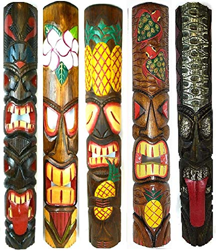Tiki Masques dans le 3er Set 3 wandmasken Tiki Hawaii Wandmaske holzmaske Masque Lounge