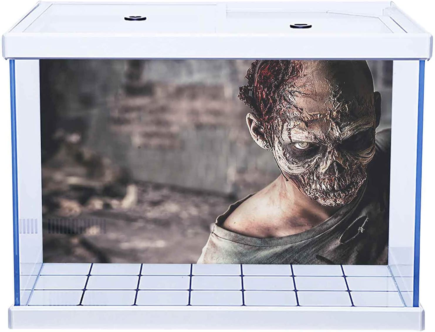 Fish Tank Background Poster Special price Max 52% OFF for a limited time Aquarium Décor Bloody Nightma Zombie