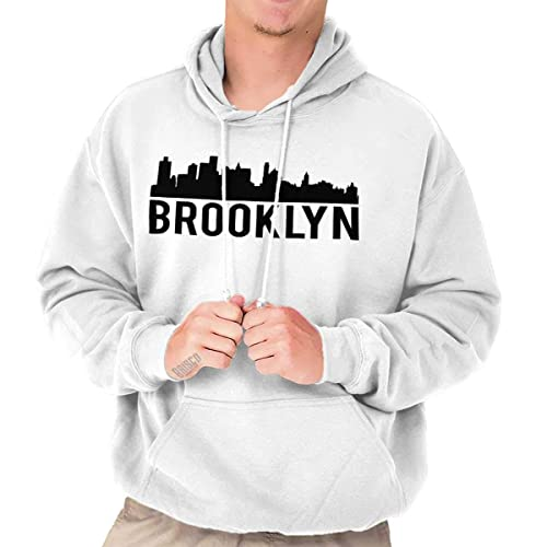 856df6bf0 Brooklyn City Skyline Silhouette Urban NYC Fashion Novelty Tee Hoodie  Sweatshirt