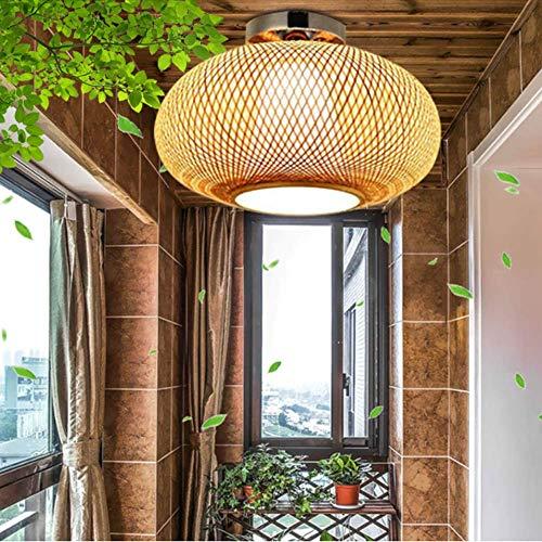 Plafoniera in bambù retrò Plafoniera in bambù intrecciata a mano E27 Altezza regolabile Ristorante Camera da letto Cucina in rattan Soggiorno Cafe Bar Illuminazione a soffitto