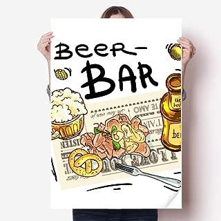 DIYthinker Beer Bar Gourmet Bread France Sticker Poster Decal 31x22