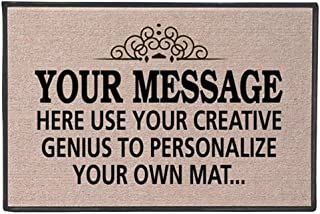 WHAT ON EARTH Your Message Here - Create Your Own Personalized Custom Doormat - Indoor/Outdoor Olefin Welcome Mat