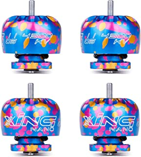 iFlight 4pcs XING Nano 1105 4500KV 2-4S Micro Brushless Motor for FPV Whoop Drone Frame Micro Quadcopter
