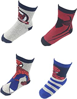 calcetines coloridos en paquete de 6 para ni/ños Marvel Spider-Man Medias ni/ños