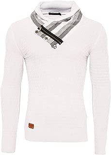 Redbridge UOMO MAGLIONCINO MAGLIONE SWEATER Manica Lunga Designer Shirt 98 Bianco