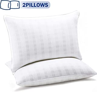 SEPOVEDA Bed Pillows for Sleeping 2 Pack, Hotel Pillow for Side/Back/Stomach Sleeper Soft Hypoallergenic Bed Pillow Standard Size,White