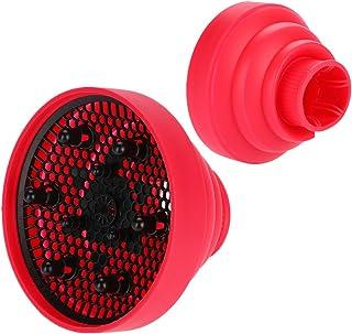 Difusor universal, Secador de Cabello, Nueva herramienta de peluquería para estilizar la cubierta del difusor del soplador de pelo del secador de pelo plegable de silicona (rosa rosa)