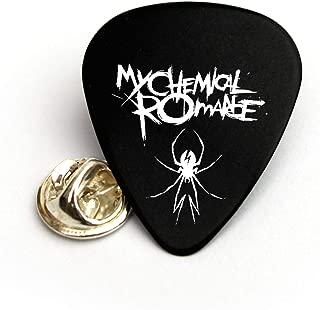 My Chemical Romance Guitar pick plectrum Pin Badge Tie Tac Lapel pin (BW)