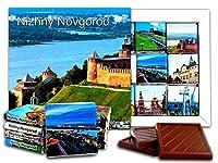 DA CHOCOLATE キャンディスーベニア ニジニ・ノヴゴロド チョコレートギフトセット 13x13cm 1箱 (ボルガ)