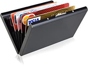 Storite 6 Slots Stainless Steel RFID Blocking Metal Credit OR Debit Card Holder for Men Women
