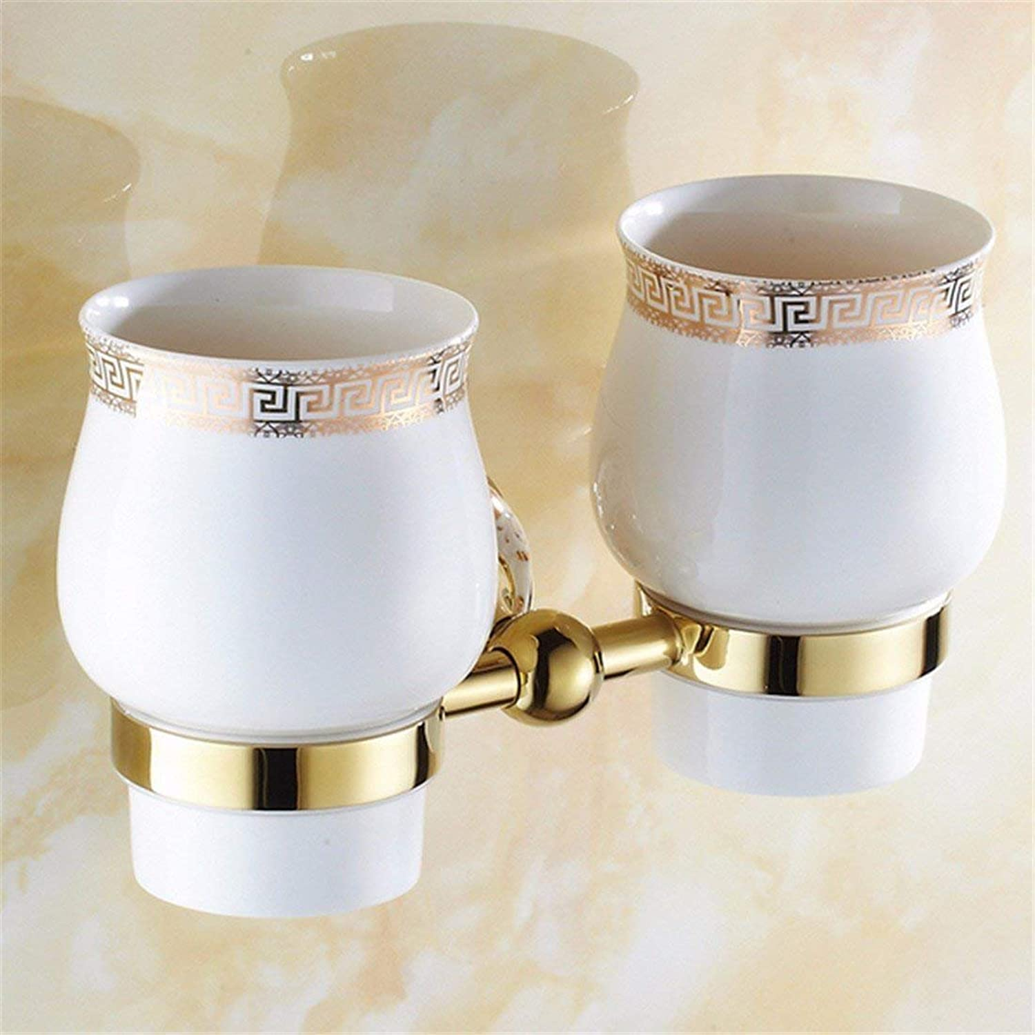 Bathroom in Copper Ceramic European golden Hook Jacket Towels, Double Cup