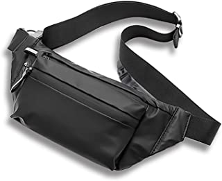 MOVOYEE Water Resistant Fanny Pack for Walking Athletic Hiking Travel Pocket, Waist Bag Men Women Sling Chest Bag Over the...