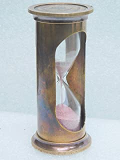 KHUMYAYAD Brass Sand Timer Nautical Vintage Antique Item Replica Hour Glass Maritime Item