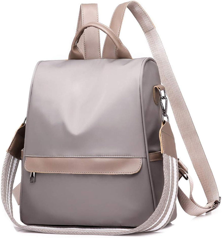 OYCC Damentasche Casual Nylon Rucksack mit doppeltem Verwendungszweck Verwendungszweck Verwendungszweck Schwarz Braun B07Q7NW12K  Starker Wert 70e3b1