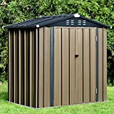 6' x 4' Storage Sheds Outdoor, Tool Sheds for Home Yard Patio Backyard Deck, Metal Garden Shed with Padlock, Dark Grey