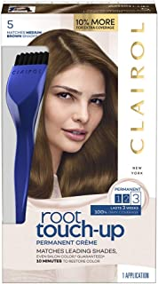 Clairol Root Touch-Up Permanent Hair Color Creme, 5 Medium Brown, 2 Count